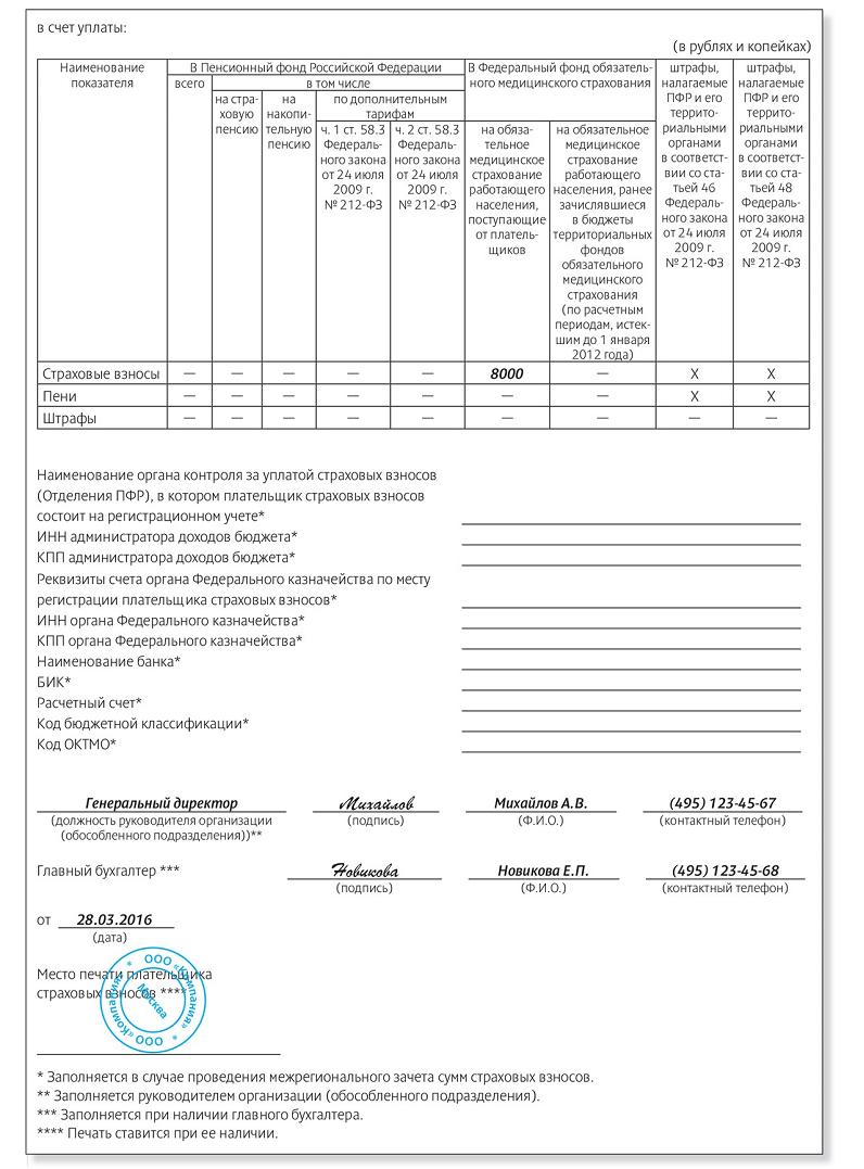 Форма 23 фсс рф приложение 3 бланк